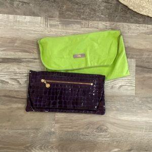 Abas purple clutch
